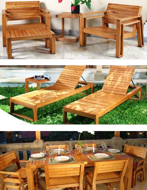 Outdoor Wood Furniture by Maku - the patio teak furniture
