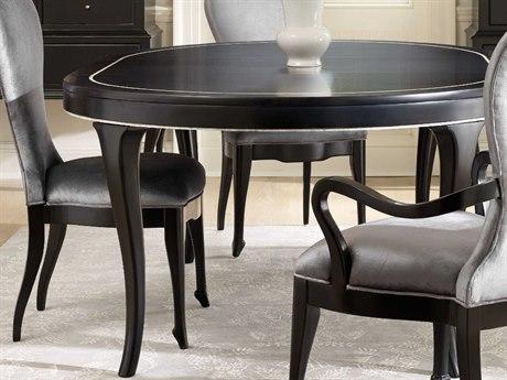 Hooker Furniture Cynthia Rowley Black 54'' - 74''L x 54''W Oval