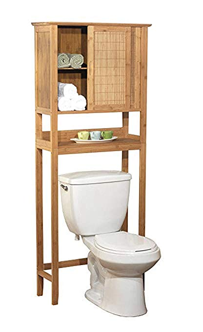 Amazon.com: Natural Bamboo Space Saver Bathroom Storage Space