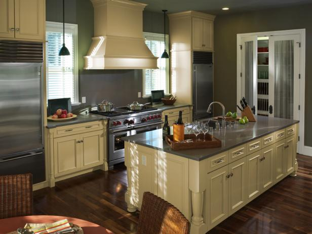 How to get creative with   painted kitchen cabinets?