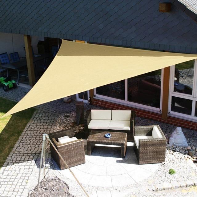 3m/ 3.6m Trigle Sun Shade Sail Canopy Patio Awning Garden UV Block