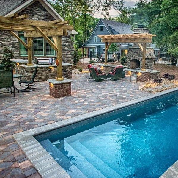Top 60 Best Paver Patio Ideas - Backyard Dreamscape Designs