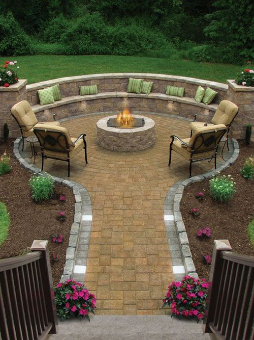 20 Cool Patio Design Ideas | For the Home | Pinterest | Fire pit