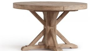 Benchwright Extending Pedestal Dining Table, Seadrift | Pottery Barn