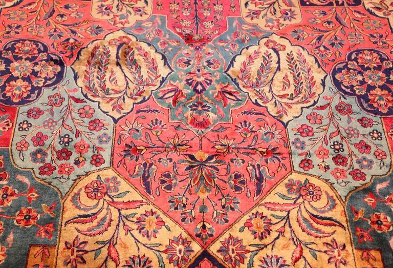 Oversized Antique Kashan Persian Rug For Sale at 1stdibs