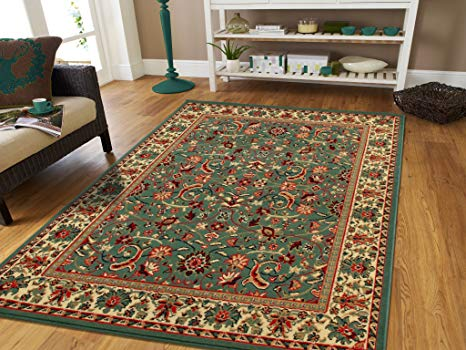 Amazon.com: Persian Rugs for Living Room 5x8 Green Area Rug Greens