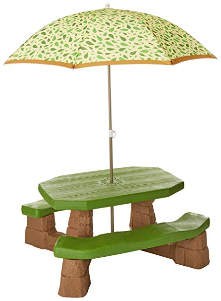 Amazon.com: Step2 Naturally Playful Picnic Table with Umbrella: Toys