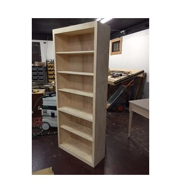 Pine Bookcase 32 wide x 78 tall x 12 deep - Wood'n Things Furniture