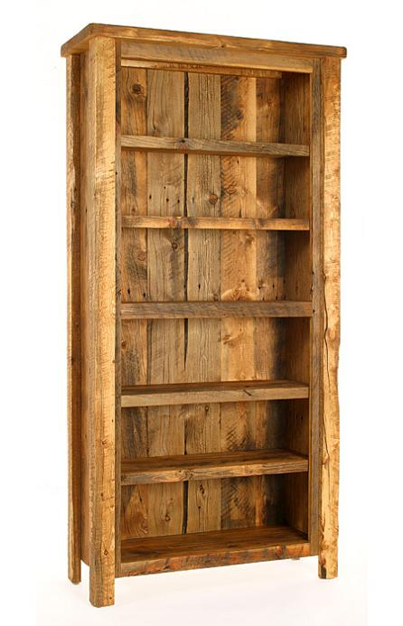 Weathered Pine Bookcase - Lodge Craft