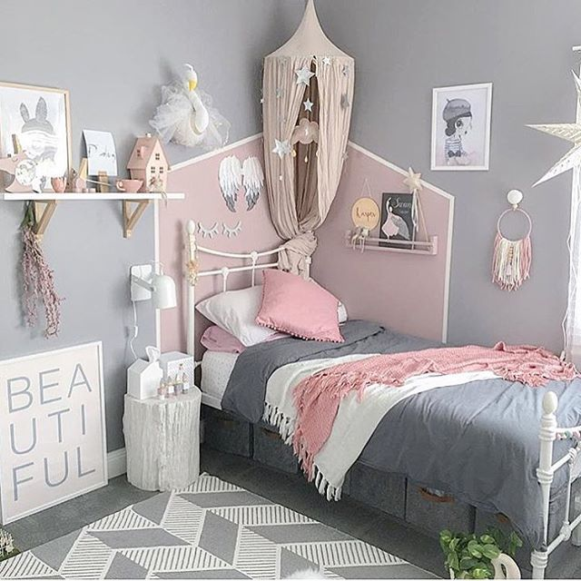 Ideas of stylish pink bedrooms for girls - CareHomeDecor