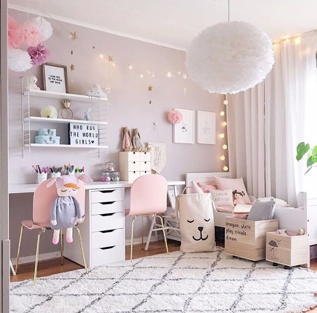 Get inspired to create a trendy bedroom for little girls with these