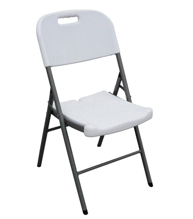 Sandusky Lee Folding Plastic Chair, 18 x 20 x 35 inches, White, Pack
