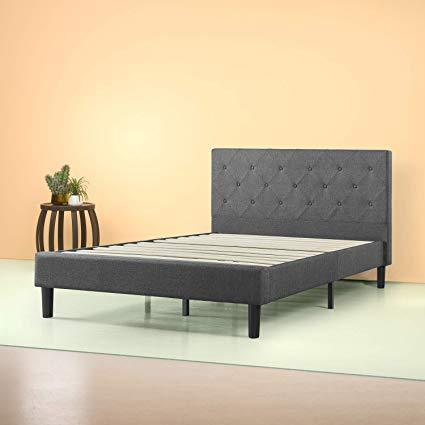 Amazon.com: Zinus Shalini Upholstered Diamond Stitched Platform Bed