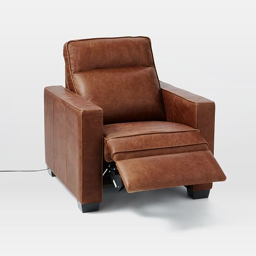 Henry® Leather Power Recliner Chair   west elm