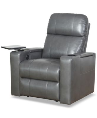 SUNDAY THEORY Thomas Leather Power Recliner, Quick Ship - Furniture