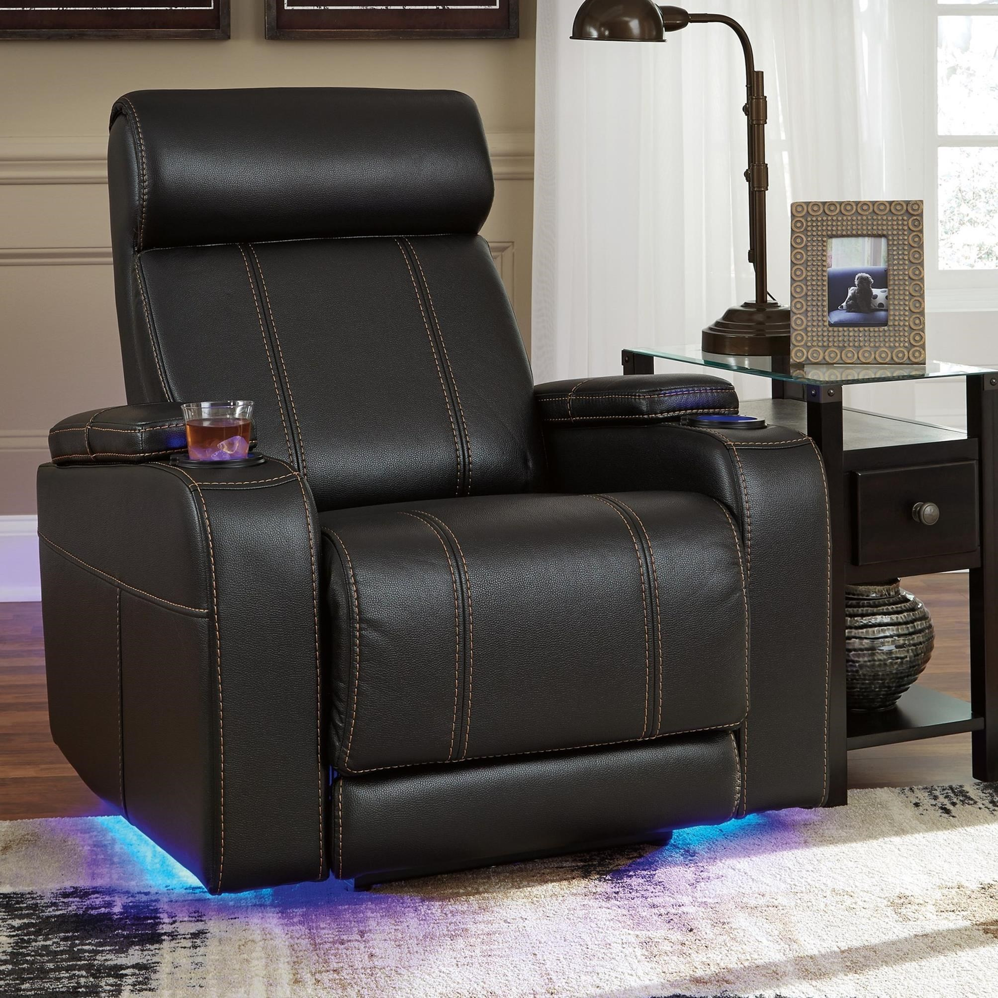 Signature Design by Ashley Boyband Faux Leather Power Recliner with
