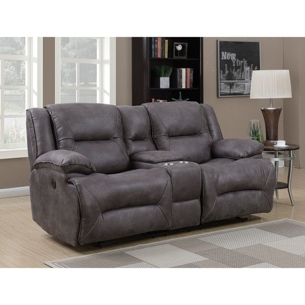 Shop Dylan Dual Power Reclining Loveseat with Storage Console