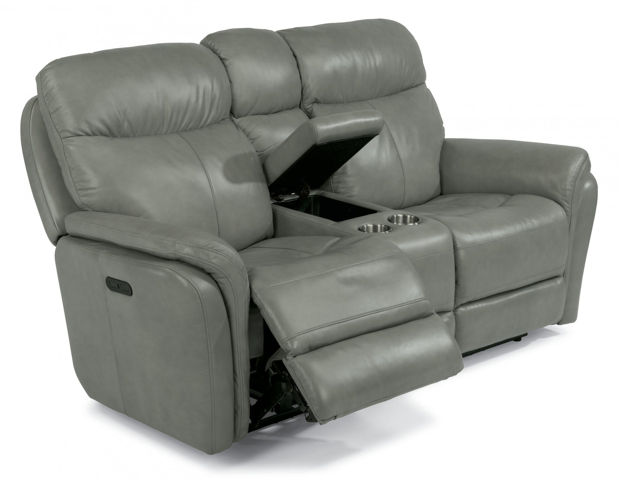 Flexsteel Leather Power Reclining Loveseat