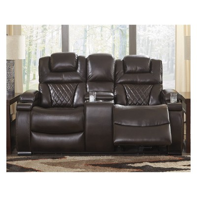 Warnerton Power Reclining Loveseat/Console/Adjustable Headrest