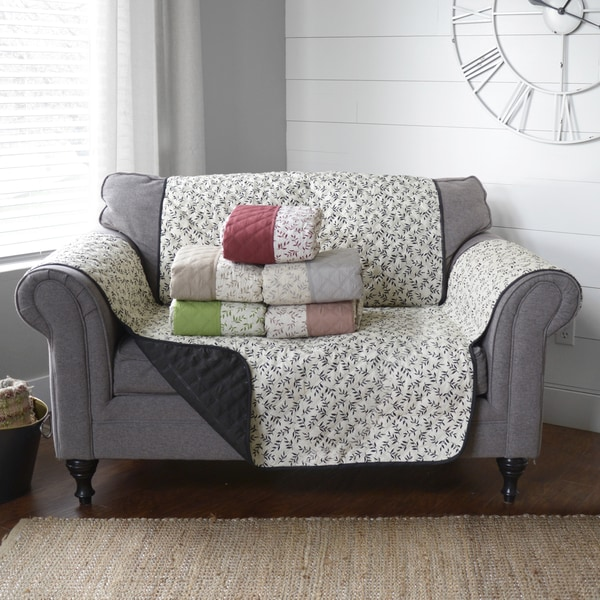 Shop Journee Home 'Colette' Reversible Printed Loveseat Protector