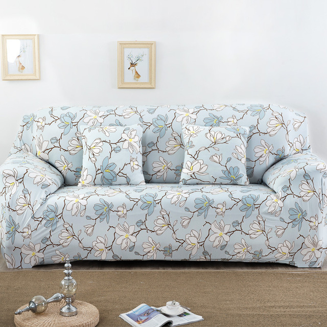 Flowers stretch sofa cover fabric Covers for a sofa Loveseat Printed