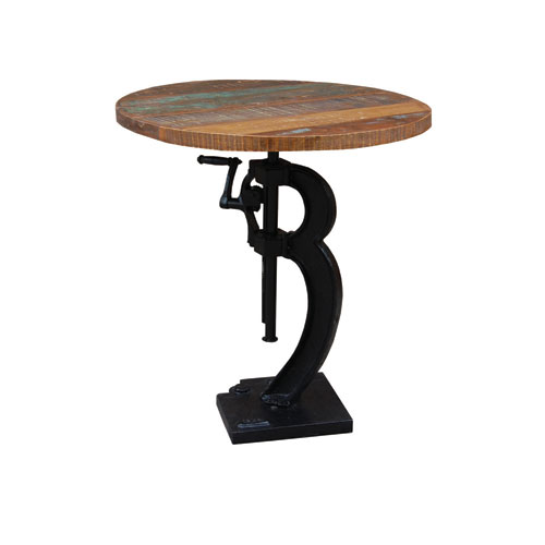 Yosemite Home Decor Antique Black Adjustable Pub Table Yfur Vaif133