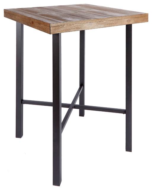 Fowler Industrial Pub Table - Industrial - Indoor Pub And Bistro