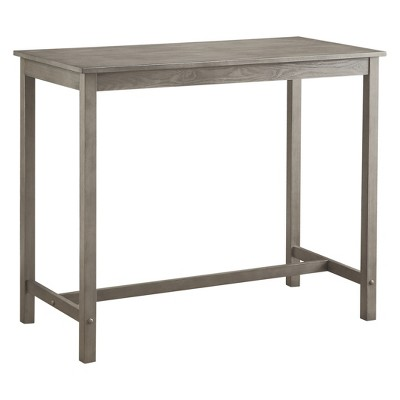 Counter Height Pub Table Hardwood Gray Wash - Threshold™ : Target