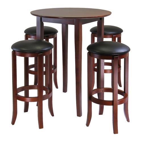 Winsome Wood Fiona Round Five Piece Pub Table Set 94581 | Bellacor