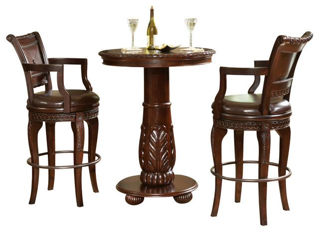 Steve Silver Antoinette 3-Piece Pub Table Set - Traditional - Indoor