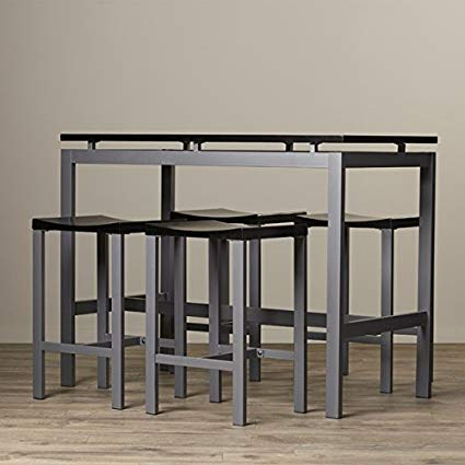 Amazon.com: Pub Table Set 5 Piece Counter Height Dining Furniture