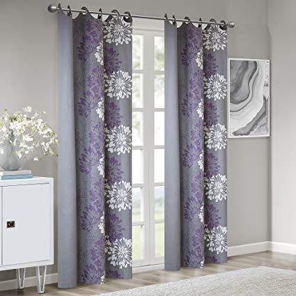 Amazon.com: Grey Purple Curtains for Living Room, Modern