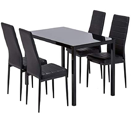 Amazon.com - Mecor Dining Table Set, 5 Piece Kitchen Table Set with
