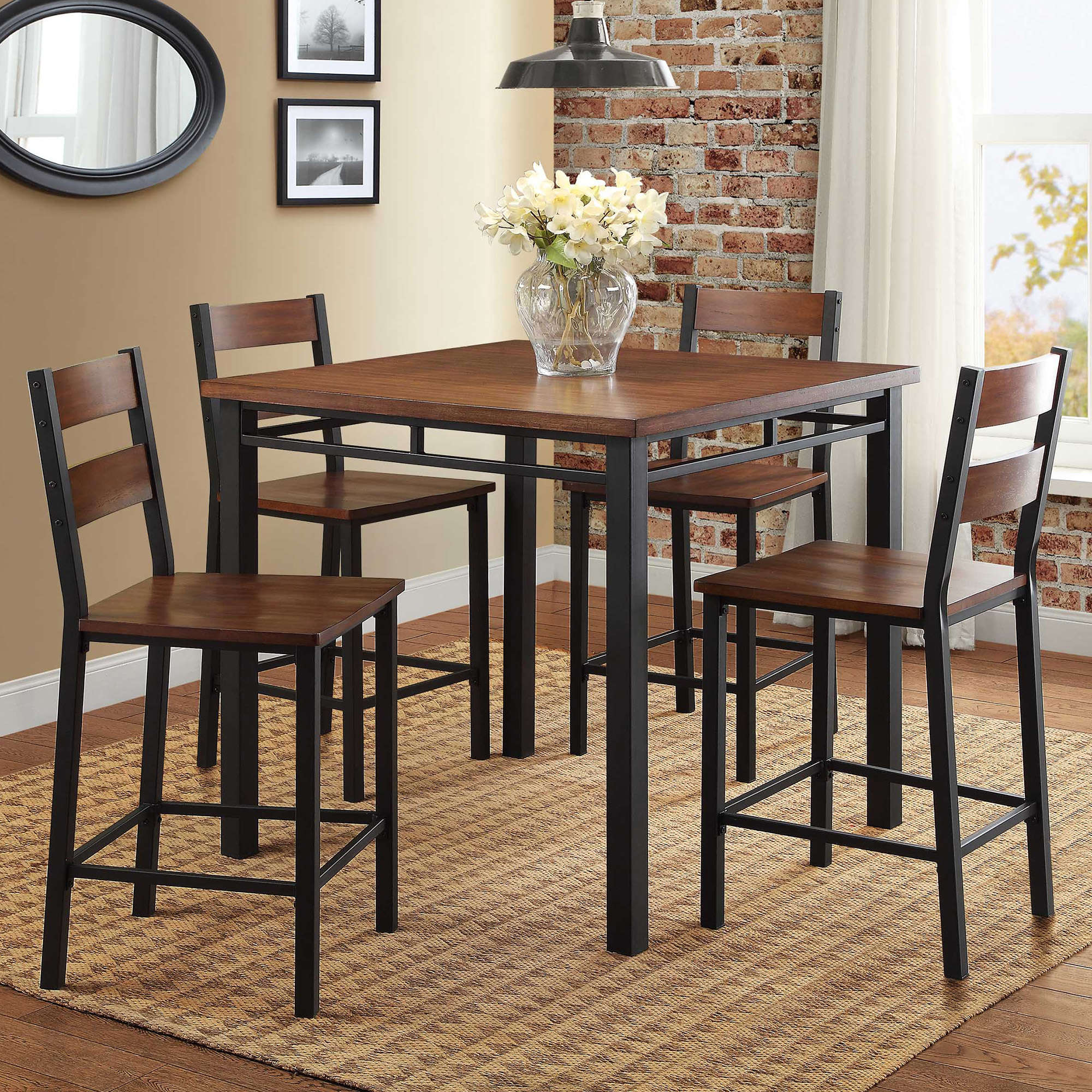 Better Homes & Gardens Mercer 5-Piece Counter Height Dining Set