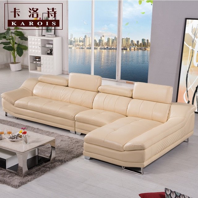 factory selling high quality genuine leather sofa, section sofa