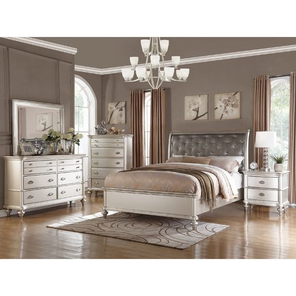 Shop Silver Orchid Boland 6-piece Silver Bedroom Furniture Set - On