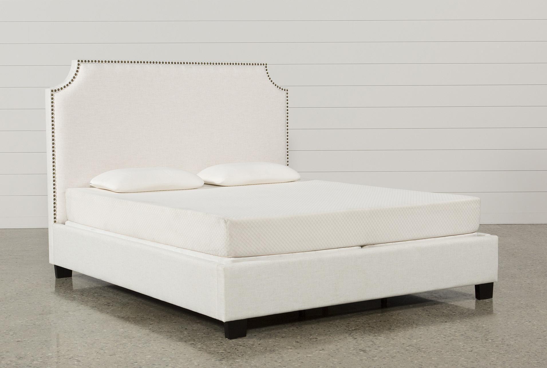 Sophia Queen Upholstered Platform Bed | Living Spaces