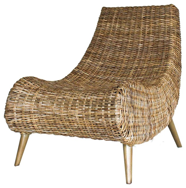 Trevia Rattan Chair, Natural - Tropical - Armchairs And Accent