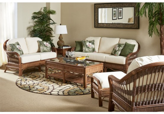 6 Piece Bermuda Rattan Sofa Set