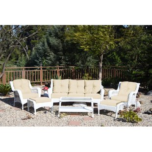 White Wicker Sofa Set | Wayfair