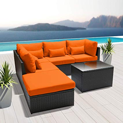 Amazon.com: Dineli Outdoor Sectional Sofa Patio Furniture Wicker