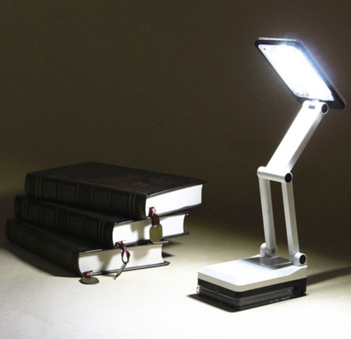Bright Portable Folding 17 LED Reading Light Rechargeable Table