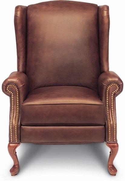 Jennings High Leg Leather Recliner by La-Z-Boy Furniture   Davis
