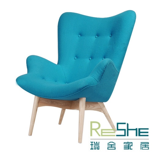 Swiss fashion house creative reception chairs solid wood furniture