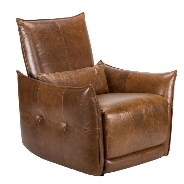 Shop Easton Leather Recliner Armchair by Kosas Home - Free Shipping