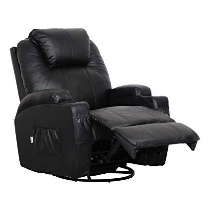 Amazon.com: Esright Massage Recliner Chair Heated PU Leather