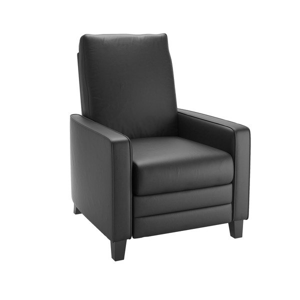 Shop CorLiving Kelsey Bonded Leather Modern Recliner Armchair - Free