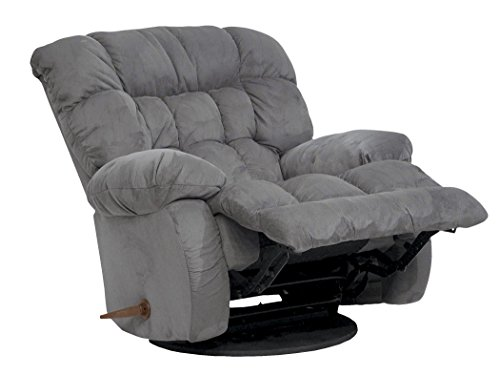 Catnapper Teddy Bear Inch-A-Way Oversized Chaise Recliner Chair - Graphite