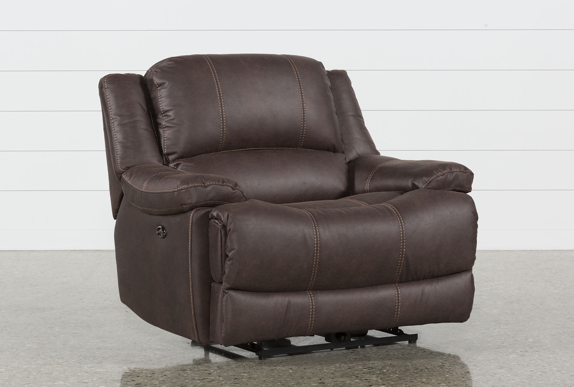 Garth Chocolate Cuddler Power Recliner | Living Spaces