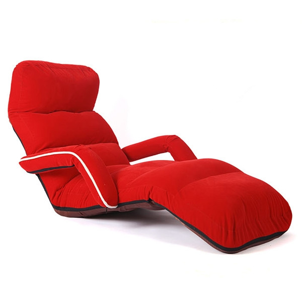 Chaise Lounge Chairs for Bedroom Adjustable Foldable Soft Suede